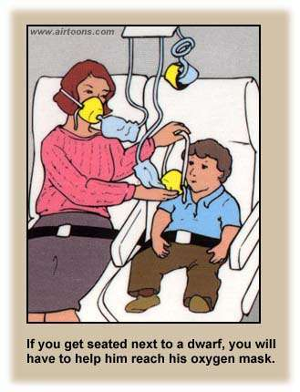 Airline Safety Card dwarf airline safety cards funny flight instructions the travel tart blog,Funny Airplane Meme Oxgen Mask