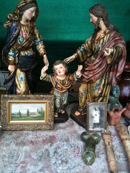 Mary, Jesus and Joseph Christmas Nativity Scene - the Bogota Market Version in Colombia