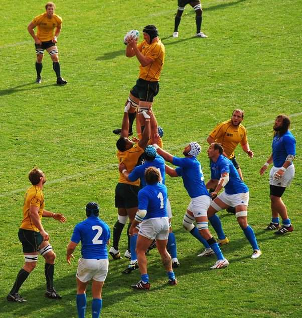 Rugby Games - Australia vs Italy Lineout