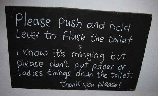 Ladies Things - Dont Flush Down The Toilet